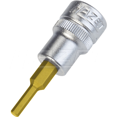 "Hazet 8801A-1/8 10mm (3/8"") 1/8 Hexagon TiN Screwdriver Socket"