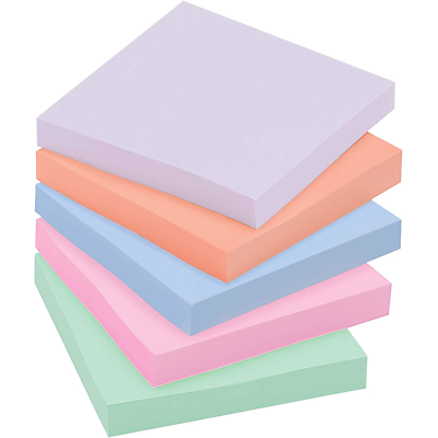 Post-it Super Sticky Recycled Notes 654-5SSNRP, 3 in x 3 in (76 mm x 76 mm)