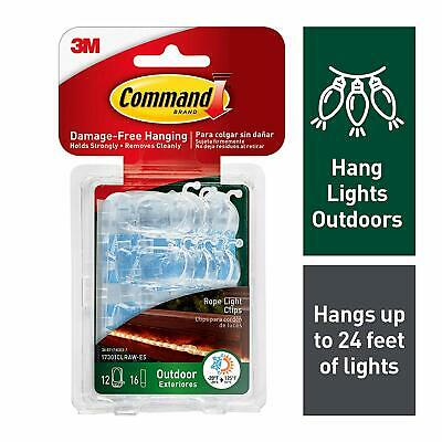 Command Outdoor Rope Light Clips with Foam Strips 17301CLRAW-ES