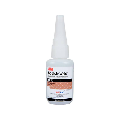 3M™ Scotch-Weld™ Super Fast Instant Adhesive SF100, Clear, 20 Gram Bottle