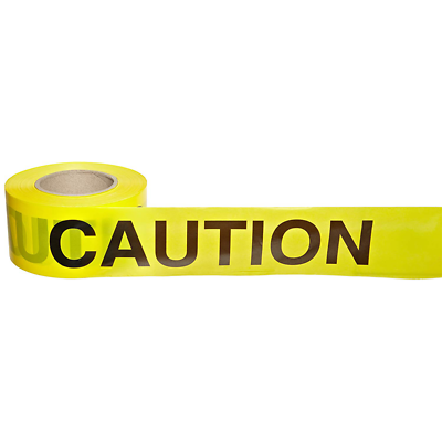 Scotch® Barricade Tape 300, CAUTION, 3 in x 1000 ft, Yellow