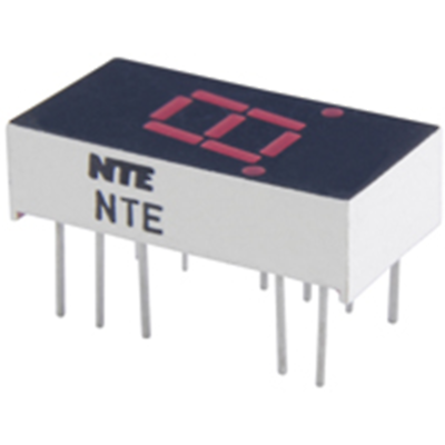 NTE Electronics NTE3052 LED-display Red 0.300 Inch Seven Segment Common Anode