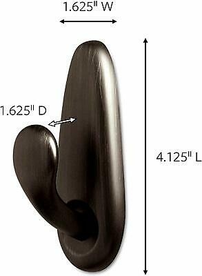 Command Large Forever Classic Oil Rubbed Bronze Metal Hook, FC13-ORB-2ES, 2 Pac