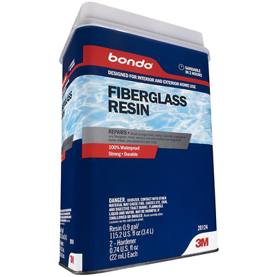 Bondo® Fiberglass Resin, 20124, 0.9 Gallon