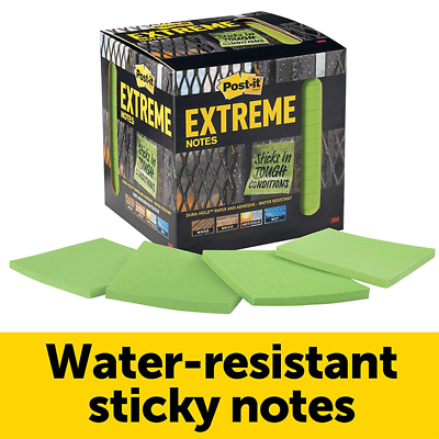 Post-it® Extreme Notes, EXTRM33-12TRYG, 3 in x 3 in (76 mm x 76 mm)