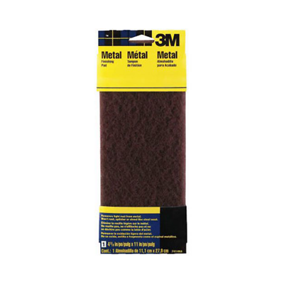 3M™ Hand Sanding Metal Finishing Pad 7414NA, 4.375 in x 11 in