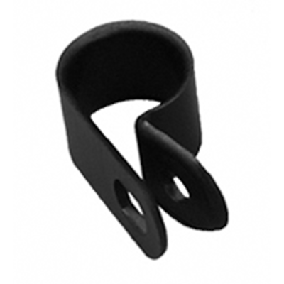 NTE Electronics 04-CCL23750 CABLE CLAMP 3/8 INCH DIAMETER BLACK NYLON 100/BAG