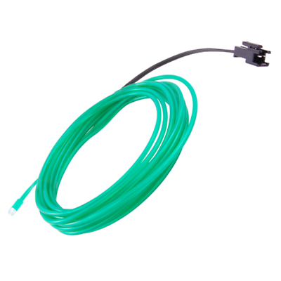 NTE Electronics 69-ELW2.3-GR EL WIRE GREEN 2.3MM DIA 3M W/PRE-WIRED CONNECTOR
