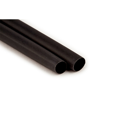 "3M Heat Shrink Thin-Wall Tubing FP-301-1/8-6""-Black-10-10 Pc Pks, 6 in Length"