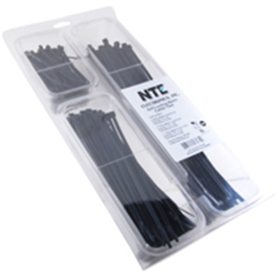 NTE Electronics 04-CPBLK CABLE TIE CONVENIENCE PACK BLACK NYLON