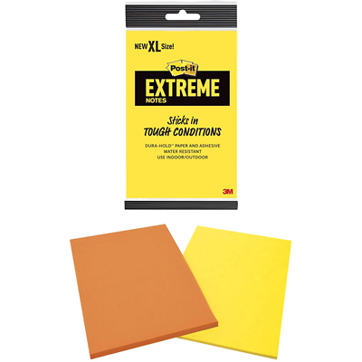 Post-it Extreme Notes EXT456-2MX , 4.5 in x 6.75 in (114 mm x 171 mm)