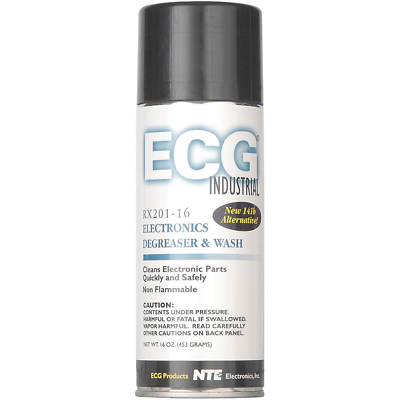 NTE Electronics RX201-16 ELECTRONICS DEGREASER AND WASH 16-OZ