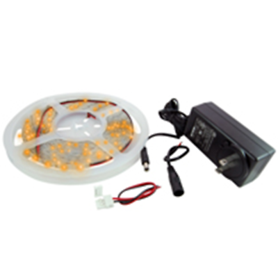 NTE Electronics 69-36A-WR-KIT LED STRIP KIT AMBER 16.4FT IP65 300(3528) LEDS 12V