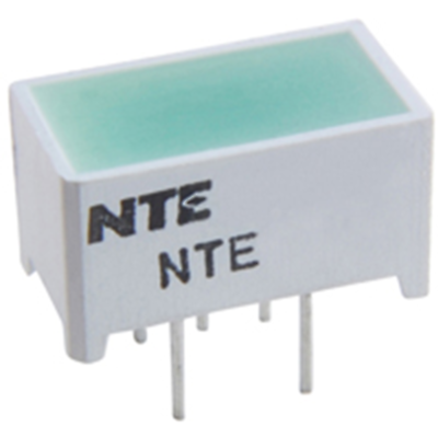 NTE Electronics NTE3181 LED Green 12.7mm X 6.35mm Rectangular