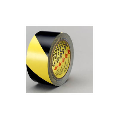 3M™ Safety Stripe Tape 5702, Black/Yellow, 1 in x 36 yd, 5.4 mil