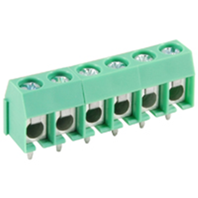 NTE Electronics 25-E400-06 Terminal Block 6 Pole 5.00mm Pitch 300V 16A PC Mount