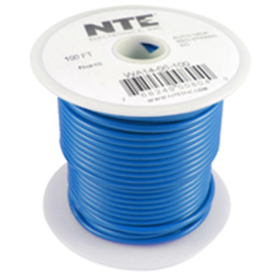 NTE Electronics WA12-06-15 HOOK UP WIRE AUTO 12 GAUGE BLACK STRANDED 100'