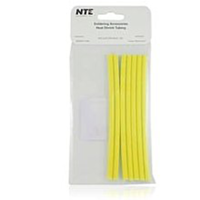 "NTE Electronics 47-25106-Y Heat Shrink 3/16"" Dia W/adhesive YLW 6"" Length 7pcs"