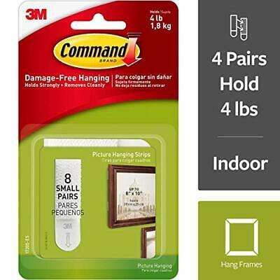 Command Small Picture Hanging Strips 17205-ES, 8 Pairs