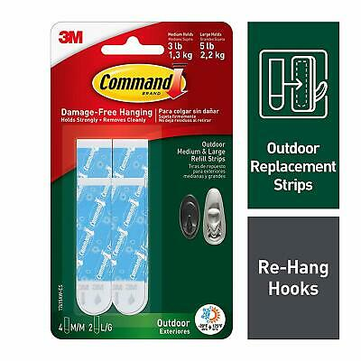 Command Outdoor Medium and Large Foam Strip Refills 17615AW-ES
