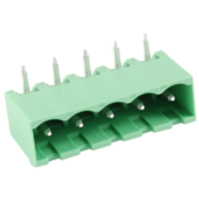 NTE Electronics 25-E1400-05 Terminal Block 5 Pole 5.08mm Pitch 300V 15A PC Mount