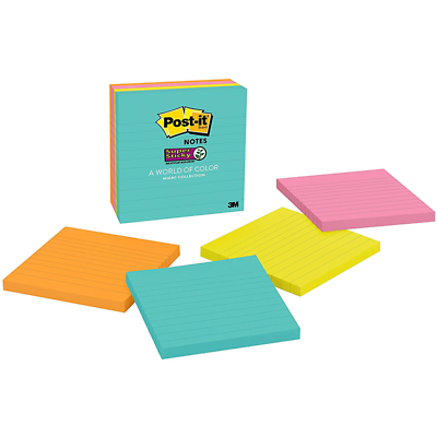 Post-it Super Sticky Notes 675-4SSMIA, 4 in x 4 in (101 mm x 101 mm)