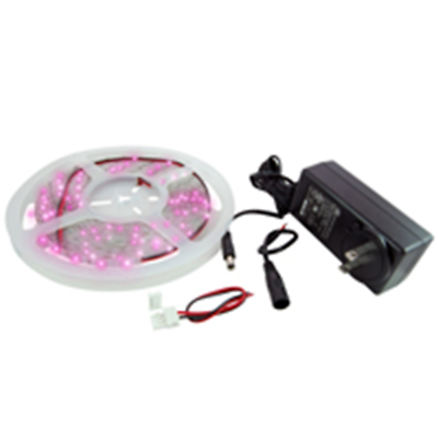 NTE Electronics 69-36PI-KIT LED STRIP KIT PINK 16.4FT 300 (3528) LEDS 12V
