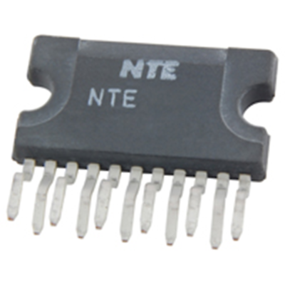 NTE Electronics NTE7146 IC - DUAL(12+12W)STEREO AMP VS = 28V TYPICAL 11-LEAD SIP