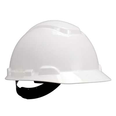 3M™ Hard Hat H-701P, White 4-Point Pinlock Suspension