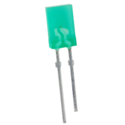NTE Electronics NTE3161 LED Green Rectangular 1mm X 5mm