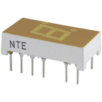 NTE Electronics NTE3064 LED-display Yellow 0.300 Inch Seven Segment Common Anode