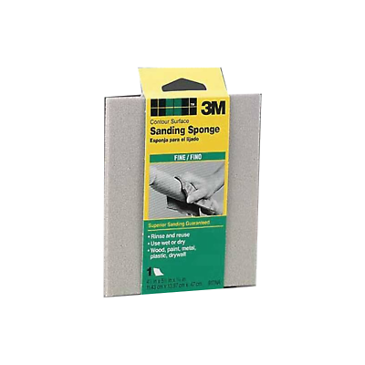 3M™ 7000126208 Contour Surface Sanding Sponge 06965, 4.5 in x 5.5 in x .1875 in