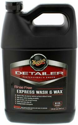 Meguiar's Rinse Free Express Wash & Wax, D11501, 1 Gallon, Liquid