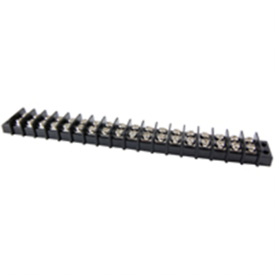 NTE Electronics 25-B500-16 Terminal Block Barrier Dual Row 16 Pole 9.50mm Pitch