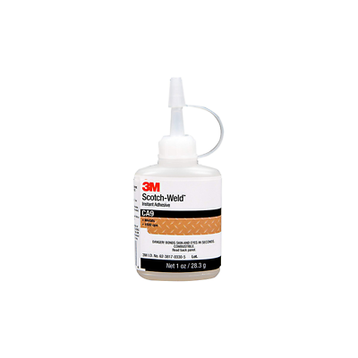 3M™ Scotch-Weld™ Instant Adhesive CA9, Clear, 1 fl oz Bottle