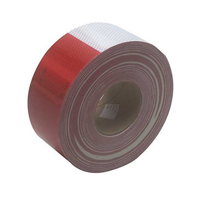 3M™ Diamond Grade™ Conspicuity Markings 983-32 Red/White, 3 in x 50 yd