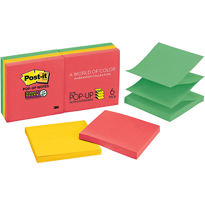 Post-it Super Sticky Pop-up Notes R330-6SSAN, 3 in x 3 in