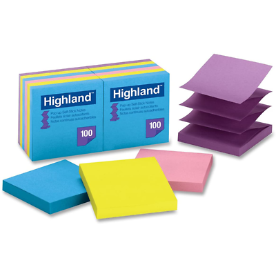 Highland Pop-up Self Stick Notes 6549-PuB, 3 in x 3 in
