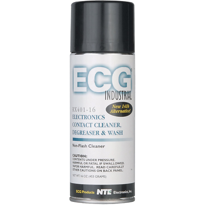 NTE Electronics RX401-16 ELECTRONIC CONTACT CLEANER/DEGREASER/WASH 16-OZ