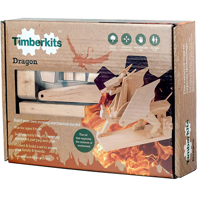 Elenco TIM-104 Timberkits - Dragon - Mechanical Wooden Construction Kit