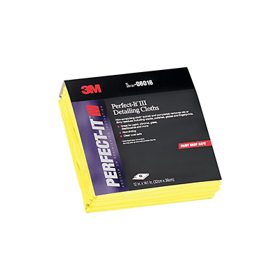 3M™ Perfect-It™ Detailing Cloths - Yellow, 6 cloths per pack