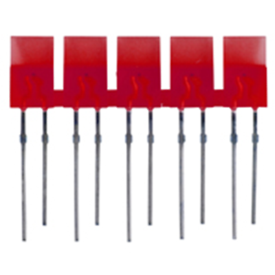 NTE Electronics NTE3150 LED 5-lamp Array Red Diffused