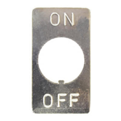 NTE Electronics 54-901 INDICATOR PLATE ON-OFF NICKEL PLATED