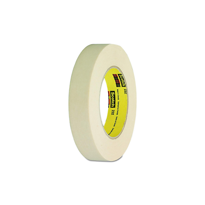 3M™ High Performance Masking Tape 232 Tan, 12 mm x 55 m 6.3 mil