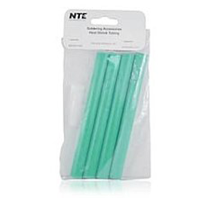 "NTE Electronics 47-25406-G Heat Shrink 1/2"" Dia W/adhesive GRN 6"" Length 4pcs"