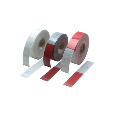 3M™ Diamond Grade™ Conspicuity Markings 983-326 Red/White, 2 in x 50 yd, kisscut