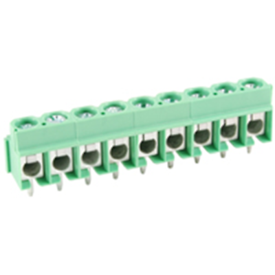 NTE Electronics 25-E400-09 Terminal Block 9 Pole 5.00mm Pitch 300V 16A PC Mount
