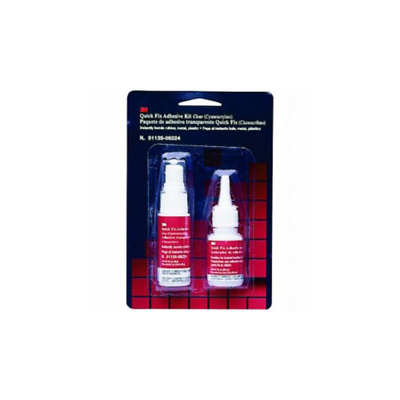 3M™ Quick Fix Adhesive Kit, 08224, 0.7 oz adhesive/2.0 oz accelerator Bottles