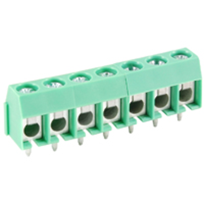 NTE Electronics 25-E400-07 Terminal Block 7 Pole 5.00mm Pitch 300V 16A PC Mount
