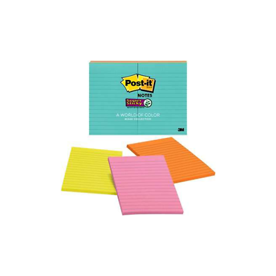 Post-it Notes 660-8SSMIA, 4 in x 6 in (101 mm x 152 mm)